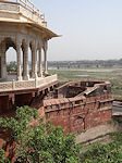 Agra fort tower