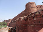 Agra fort wall