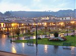 Cusco Plaza de Armas by night
