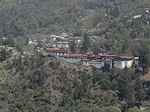 Trongsa sight on dzong